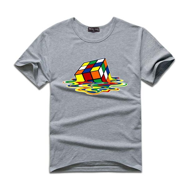 2016 Summer New Mens T Shirt Stylish Design Hot Sale Rubik Cube ...