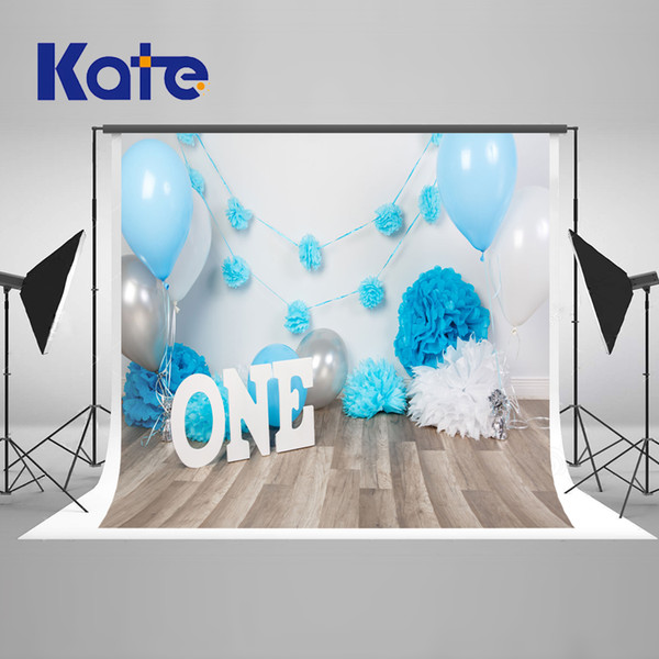 2019 Background Wedding Backdrop Newborn Birthday Background Wood Backdrop Cake And Ballon Blue Backdrop For Studio From Guiy $39 79