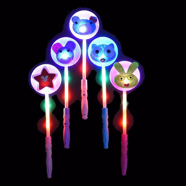 250PCS/Lot Flash Led Light Sticks For Christmas Gifts Lovely Animal Flashing Wand Girl Children Gift Light Party Decration toys