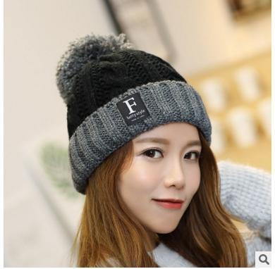 New arrival winter caps women fashion hair ball hats knitted gorro bonnet femme ear warm beanie lady winter hats skullies