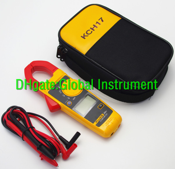 FLUKE 302+ with coft case KCH17 Handheld Digital Clamp Meter Multimeter Tester DMM AC/DC Volt F302