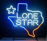 """New Texas Lone Star Neon Sign Commercial Custom Handcrafted Real Glass Tube Beer Bar Pub Store Motel Home Decoration Neon Signs 18""""X18"""""""