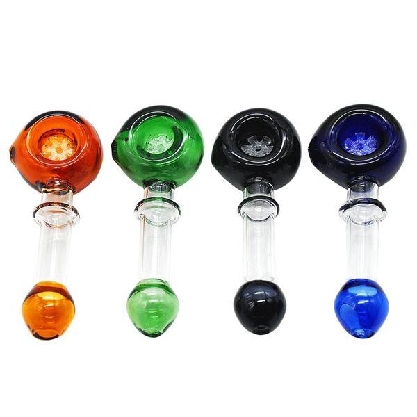 Bong in vetro di alta qualità Accessori Bruciatore a olio unico Tubi di vetro Tubi dell'acqua Tubo di vetro Rigs Oil Fumo con contagocce
