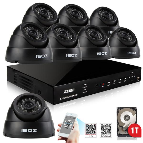 4CH CCTV DVR 800TVL Outdoor 720P Night Vision Security Camera System+IP44 H.264