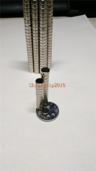 200pcs Neodymium Disc Mini 6X4mm Rare Earth N35 Strong Magnets Craft Models