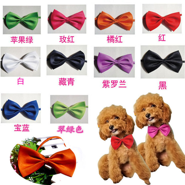 best selling Pet Dog Neck Tie Cat Dogs Bow Ties Headdress Adjustable Collars And Leashes Apparel Christmas Decorations Ornaments By DHL A-201