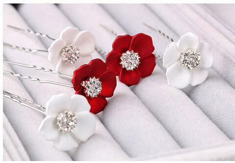 best selling hairpins Korea style hair bride pearl hairpins for girls plum flowers hair accessories wholesale bride tiara HT051