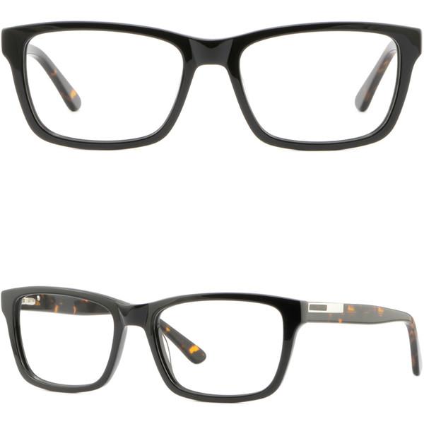 be48f55b098 Black Mens Womens Plastic Frames Spring Hinges Rectangular Prescription  Glasses