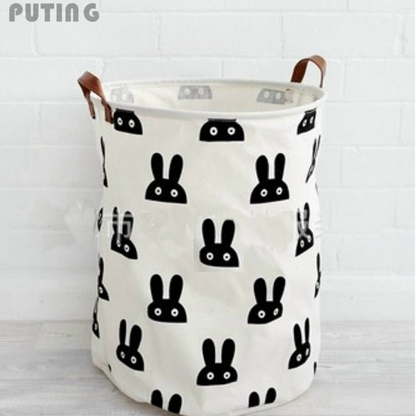 Wholesale- Beige Zakka Large Cartoon Storage Bag Canvas kid Laundry Bags Children Baby Play Mat Toys Clothes Organizer Home Decor XHH8141
