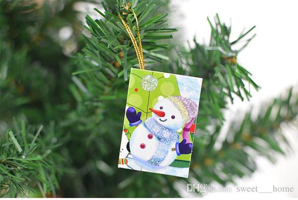 2017 tarjetas de Navidad calientes Adornos de Navidad impresos Tarjeta de deseos Dulce deseo Encantador para cumpleaños Regalo de niños con paquete al por menor 56W