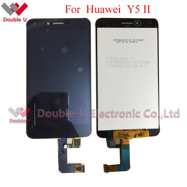 Wholesale- 1pcs/lot Original New LCD For Huawei Y5 II LCD Display Touch Screen Glass Digitizer Assembly White Gold in Free shipping