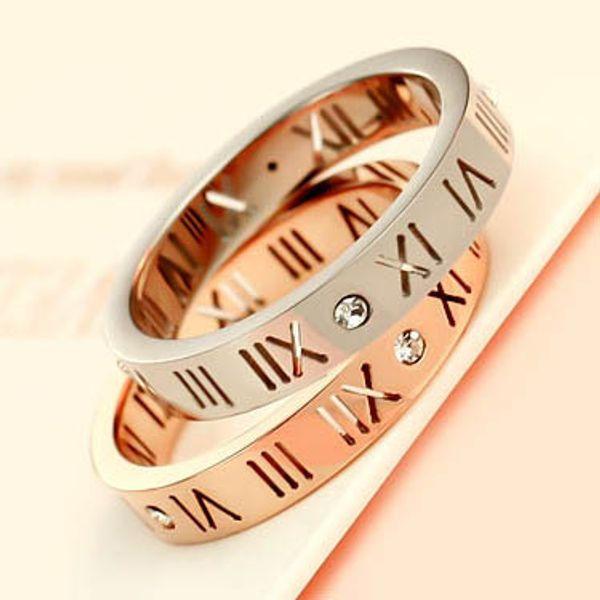 2015 novo vender oco titanium banhado a ouro rosa 18k anel digital whit amantes de pedra anel anel de dedo como presente brithday anéis de ouro mulheres / homens