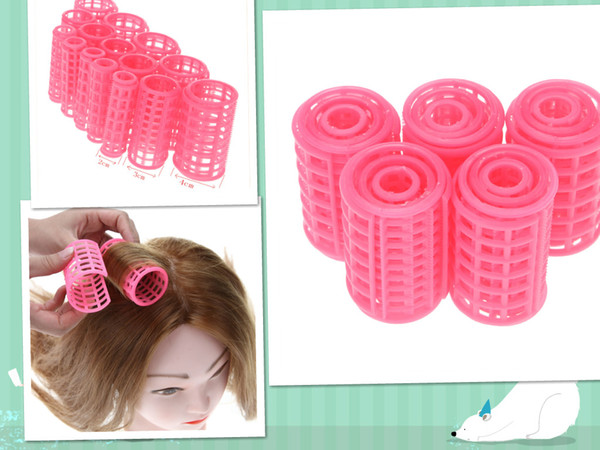best selling 15pcs set Plastic Hair Curler Roller Large Grip Styling Roller Curlers Hairdressing DIY Tools Styling Home Use Hair Rollers