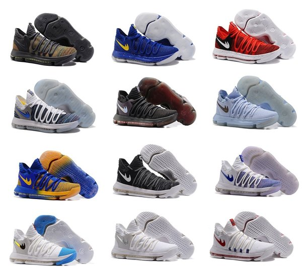 buy popular 77698 5af84 Fmvp Correct Version Kevin Kd X 10 Elite 8 Playoffs Mens Basketball Shoes  Warriors Home Wolf Durant 10s Training Sport Sneakers Us7 12 Women ...