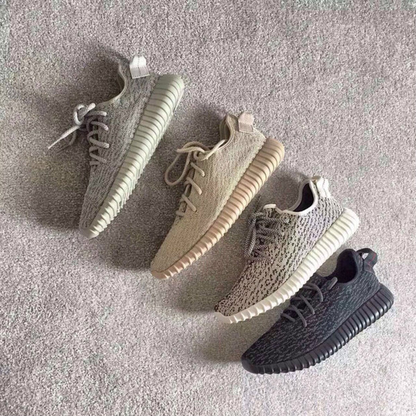 Hot Sale Pirate Black Kanye West Boots Oxford Tan Moonrock Turtle Dove Boots Men New Running Shoes with Box