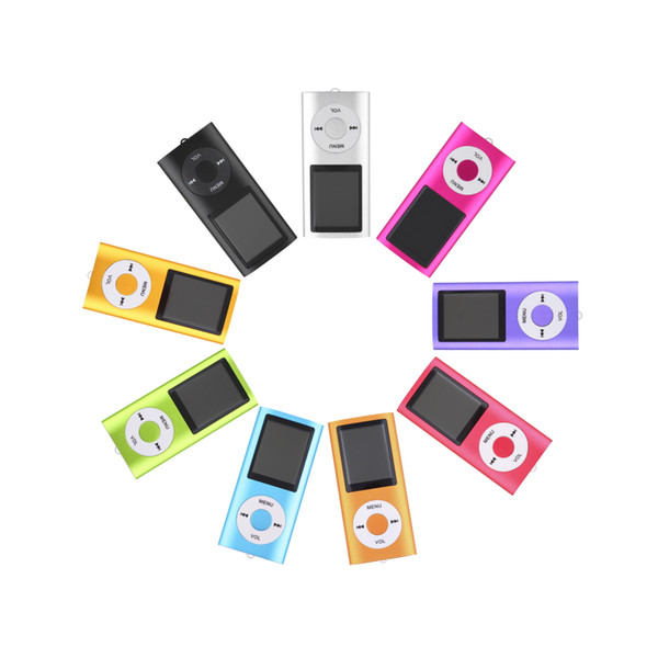New 4th 1.8 inch LCD Screen MP3/MP4 Player Memory Card Slot 2GB-16GB MP4 music Player Radio FM with Earphone Wholesale