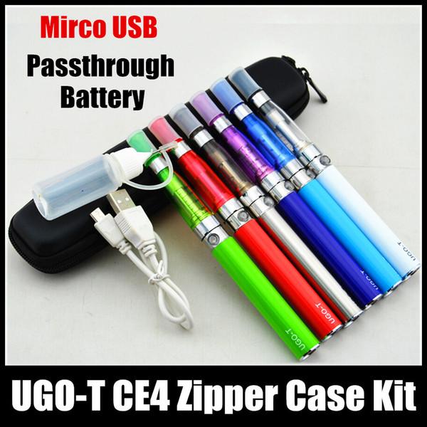 cigarrillos electrónicos CE4 eGo estuche con cremallera kit individual CE5 atomizador Clearomizer ugo t 650mah 900mah 1100mah batería de paso cigarrillo electrónico