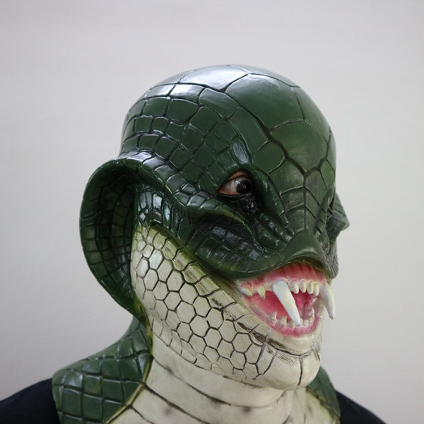 Hot 2017 New Arrival Realistic Adult Full Head Animal Masks Realistic Fancy Dress snake Mask Rubber Latex Mask for Halloween Costume Party