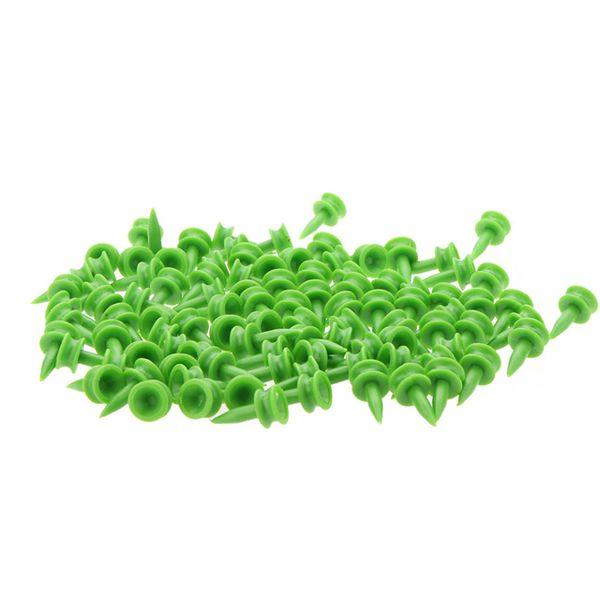 top popular 100pcs Green Double-deck Plastic Golf Tee 23mm 2019