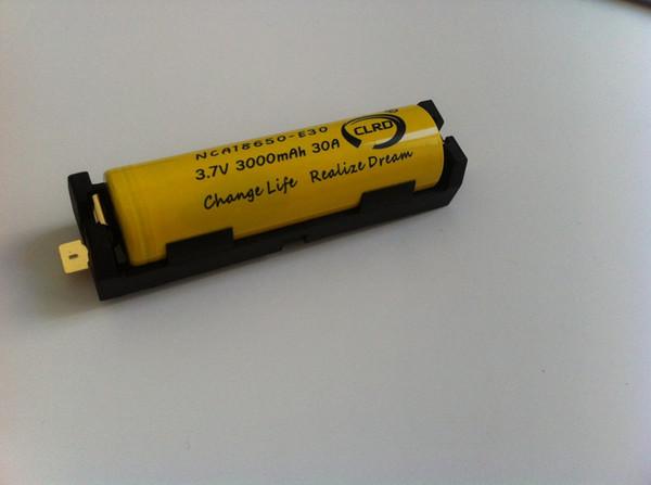 top popular New arrival keystone holder 1042 single bay 1 slot 18650 battery holder with SMT tabs 1042 anti-fire material hard plastic holder 18650 2021