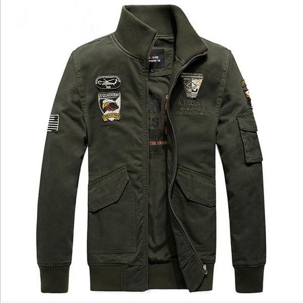 Herbst-Marke Herren Styled Jacken im Freien Kleidung Mann Armee grün Oberbekleidung XXXL Mantel VC2462