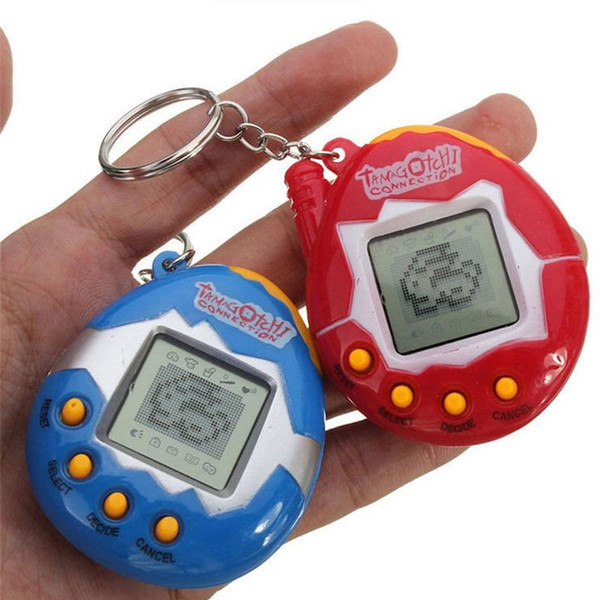 best selling 1000pcs--2017Tamagochi Virtual Digital Electronic Pet Game Machine Tamagochi Toy Game Handheld Mini Funny Virtual Pet Machine Toys