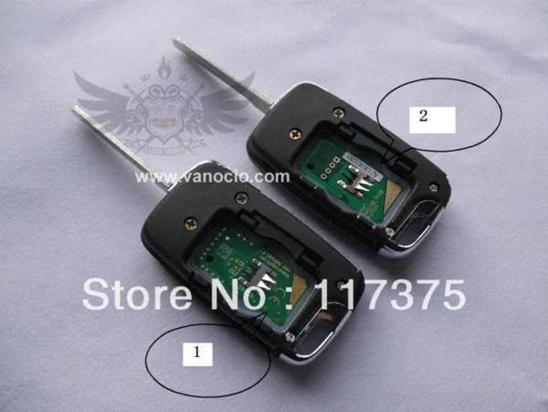 Geely Emgrand EC7 (EC715, EC718), EC715-RV ID46 çip ile 3 düğme uzaktan anahtar kontrol 434 mhz M36768 araba
