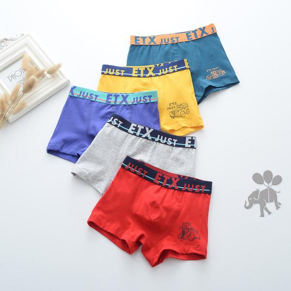 Boutique Children's underwear 5 per pack Panties Underwear Baby Kids Clothing Baby boy blend cotton boxer underwear 1707