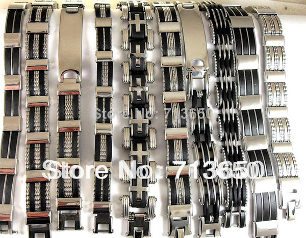 10X Design Mixed Quality Herrenmode Edelstahl Armbänder Großhandel Schmuck viel