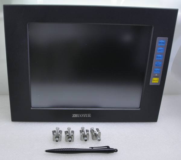 best selling 12 inch 4:3 1024*768 aluminum alloy case open frame touch screen monitor for machine waterproof dust monitor