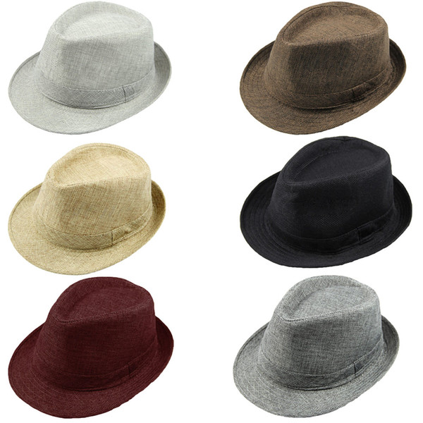 Großhandels-Art und Weise beiläufige Hüte für Frauen Pinched Crown Fedora-Hut Beach Sun Cap Panama-Hut Männer Chapeu Masculino Chapeus Unisex