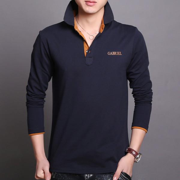 Polo shirts Cotton long sleeves polos shirt men slim fit polo t shirts wholesale mens american t-shirt polo brand shirts business poloshirts