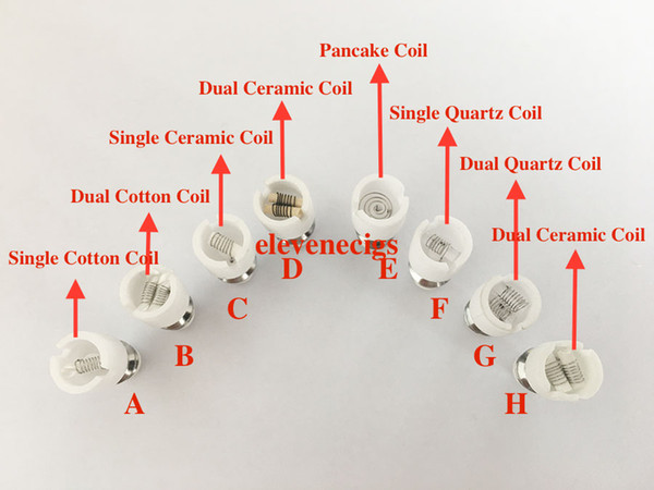 top popular Wax Atomizer Dual Wax Coil Dual Quartz Coil For Glass Globe Bulb Vape Pen Wax Dry Herb Vaporizer 2020