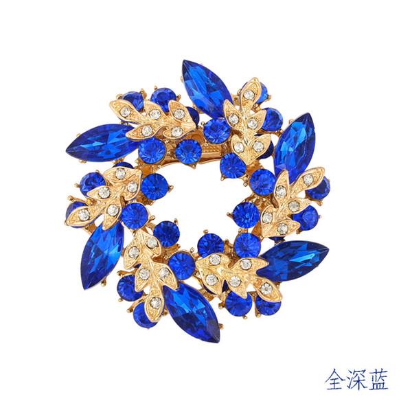 Fashion Jewelry Wholesale Korean high-grade diamond brooch crystal brooch scarf buckle dual Redbud Limited promotional free shipping