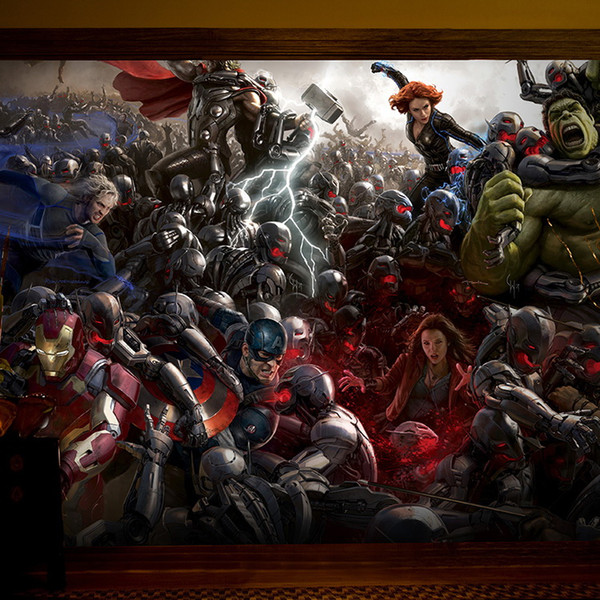 The Avengers Photo Wallpaper 3D Wall Mural Iron Man Captain America Hulk Boys Kids Girls