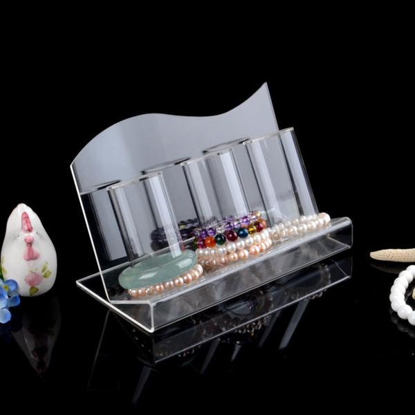 top popular Clear Acrylic Top grade Bracelets Holder Watch Bangle Display Stand Rack Jewelry Storage Shelf 2021