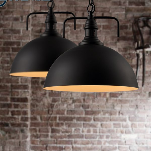Vintage American Country Chandelier Edison LED Industrial Pendant Lamps Halogen Retro Iron Black Pendant Lamps cafe shop 2pcs/lot E27 ty-015