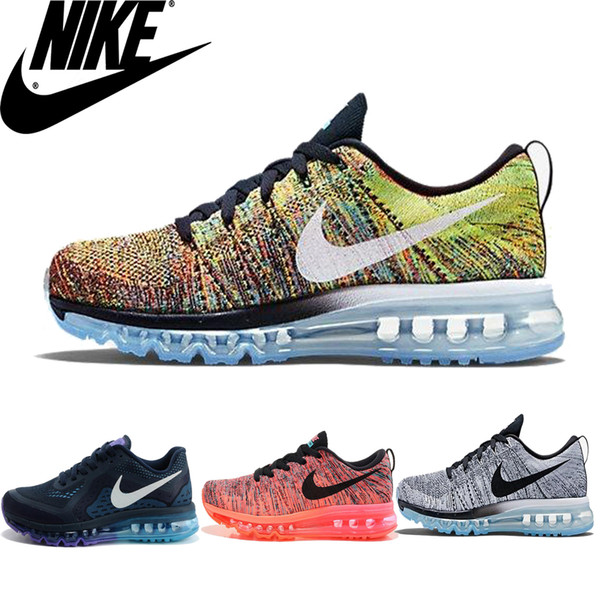 Nike Flyknit Air Max Premium Multi Color Awesome Men Running Shoes,100%  Original Nike Airmax Flyknit Maxes For Mens Shoes Sneakers 2016 Hot  Sneakers ...