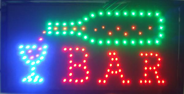 Toptan Led Neon Bar Beer Pub İçme Işareti ışıkları Plastik PVC çerçeve Ekran reklam işareti boyutu 10 * 19 inç