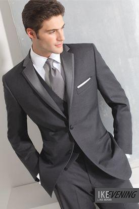 charcoal gray suits for men groom wear slim fit tuxedo 3 piece suits wedding formal suits 2017
