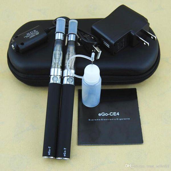 eGo T CE4 starter kits Ecigarette double Ego-T 650 900 1100 mah battery ECig dual ce4 vaporizer clearomizer tank vape pen mods kit