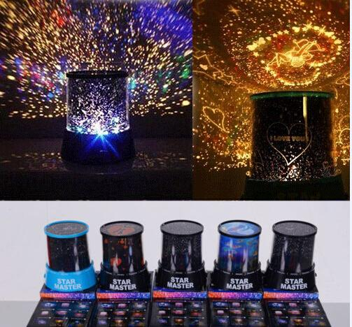 Colorful 8 Style to Choose LED Cosmos Star Master Sky Starry Night Projector Light Lamp Kid's Good Gift