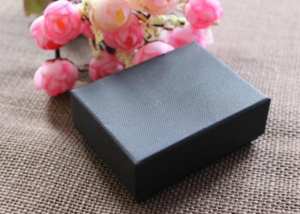 best selling High-grade jewelry box Classic Black Canvas necklace box High Quality Necklace Earrings Jewelry Pack For Best Jewelry