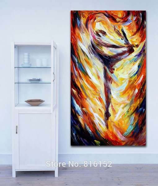 Abstract Ballet Girl Body Art Palette Knife Oil Painting Canvas Print Mural Art Home Office Cafe Wall Decor