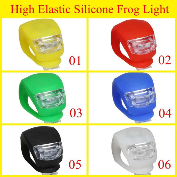 2019 High Elastic Silicone Frog Bike Light Different