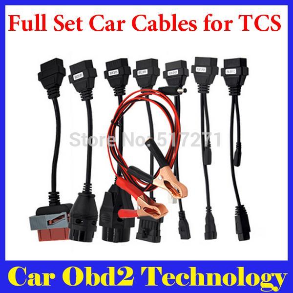 Vente chaude OBD2 Câbles Pour CDP Pro Câbles De Voiture Outil D'interface De Diagnostic 8 Câbles Ensemble Livraison Gratuite