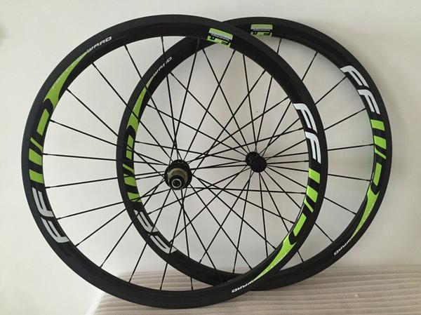powerway R36 mozzo 23mm larghezza 38mm Verde FFWD ruote in carbonio ruote in carbonio ruote bici da strada ruote da strada