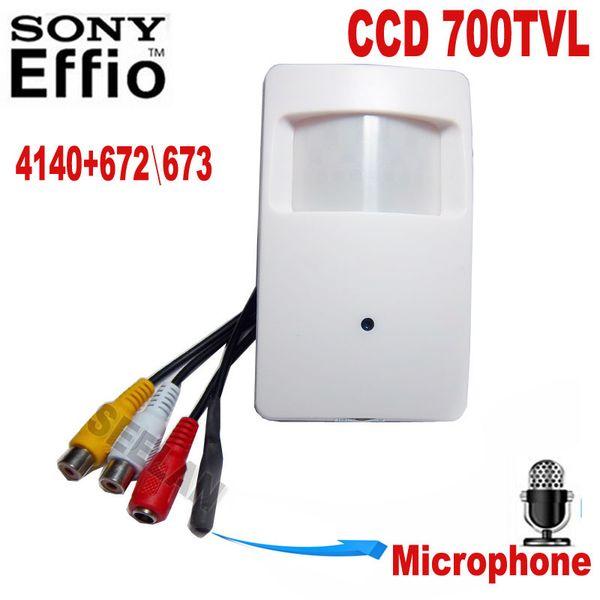 Motion Detector PIR STYLE CCTV Camera 960H 700TVL Effio-e 3.7mm CCTV Mini Security Camera Security Camera External microphone