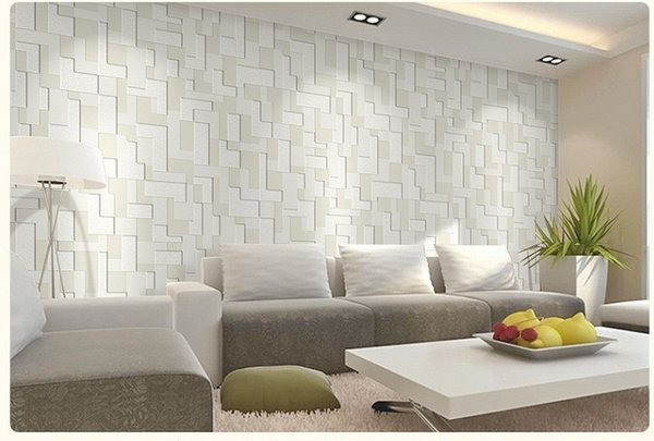 3D SIMPLE Wallpaper Luxury Flocking Non-woven Wall Covering Decoration for Living Room Bedroom
