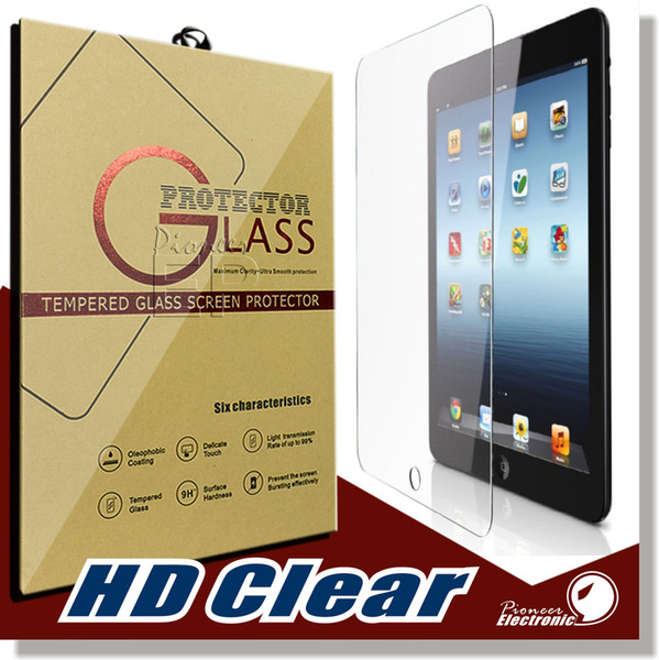 best selling For iPad Mini 2 3 4 air PRO 9.7inch Screen Protector Shatterproof Anti-Scratch HD Clear iPad Mini 2 3 iPad Air Tempered Glass